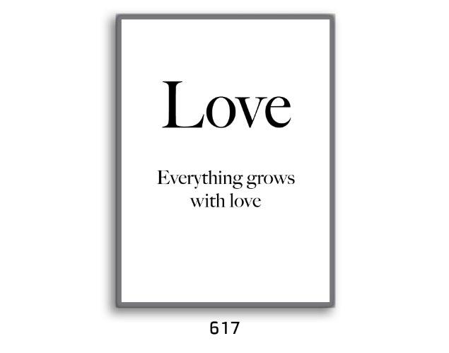 תמונת השראה LOVE הכול גדל עם אהבה דגם 617