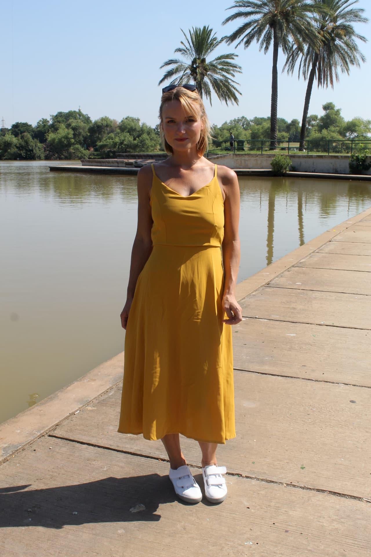 שמלת ולרי צהובה