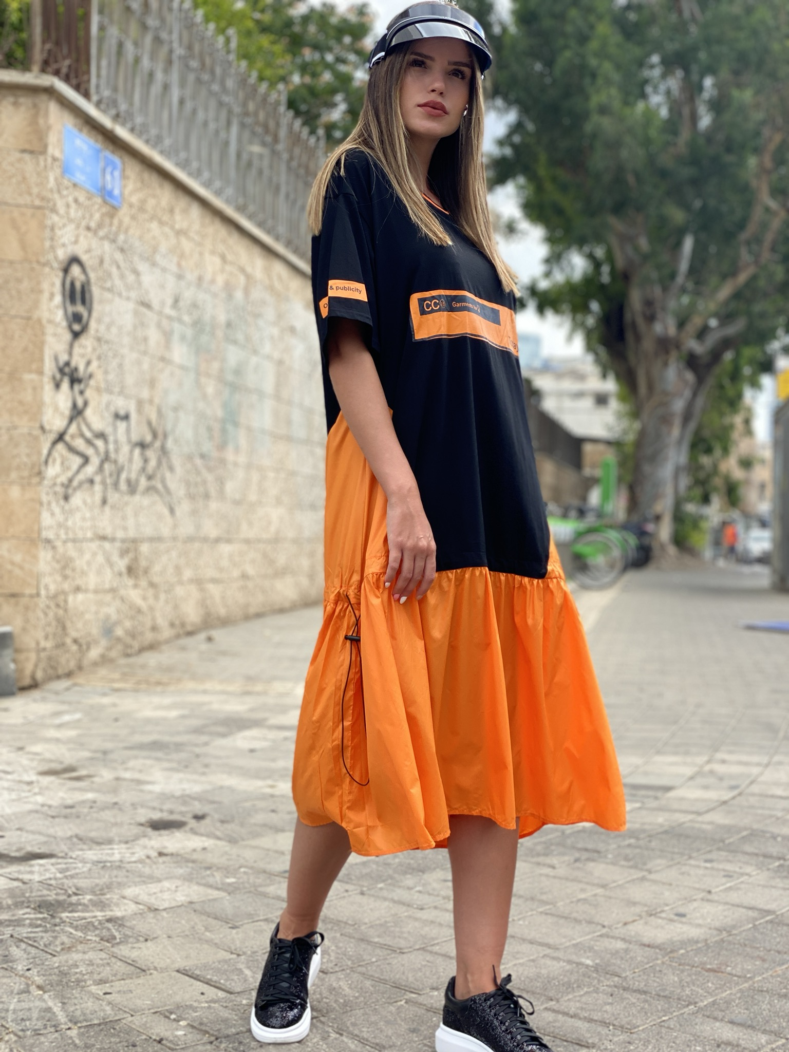 שמלה שילוב שרוך