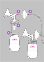 ערכה לאיסוף חלב שאוב של Spectra - (32 ממ + 28 ממ)