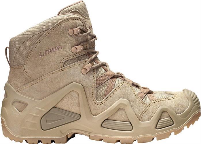 נעליים טקטיות הרים לואה חום בהיר מדברי  LOWA Zephyr  Mid Desertדגם גברים