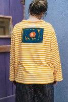 חולצות מדגם איה עם דוגמה של פסים לרוחב בצבע מנגו ולבן