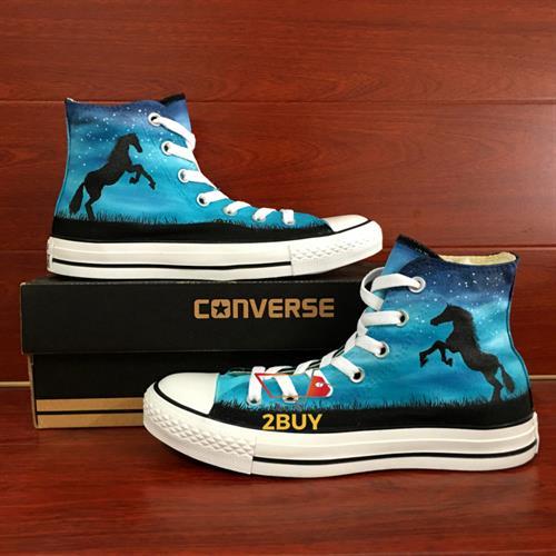 נעלי converse design all star chuck taylor יוניסקס בעיצוב בלעדי horse, starry night במידות 35-49