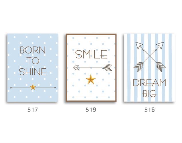 סט של 3 תמונות השראה מעוצבות לתינוקות, לסלון, חדר שינה, מטבח, ילדים - תמונות השראה 01