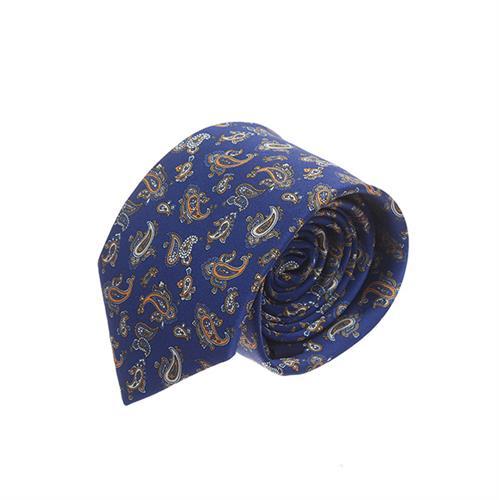 עניבה פייזלי כחול כתום