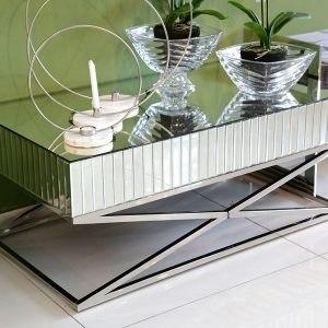 שולחן סלון מלבני רסיטל רגליים נירוסטה מפתח הפריט: 195392  מידות: 110X60X45