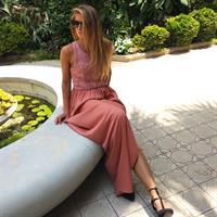 שמלת רומי אפרסק פאייטים