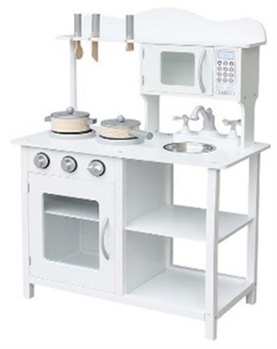 מטבח עץ לבן לילדים מדגם  PLK504