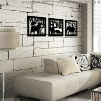 מדבקה לקיר | שלישיית תמונות השראה | פילי אפריקה