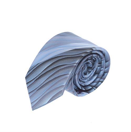 עניבה גלים אפור