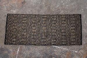 שטיח עשב ים  - בתוספת דוגמה בשחור