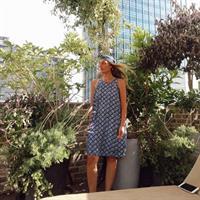 שמלת שיר קצרה - BLUE FLOWERS