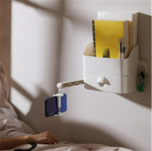 מדף מיטת קיר רב-פונקציונלי עם מחזיק טלפון