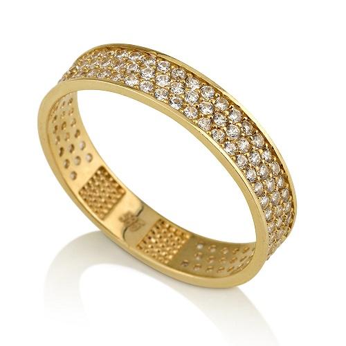 טבעת פווה מזהב 14K