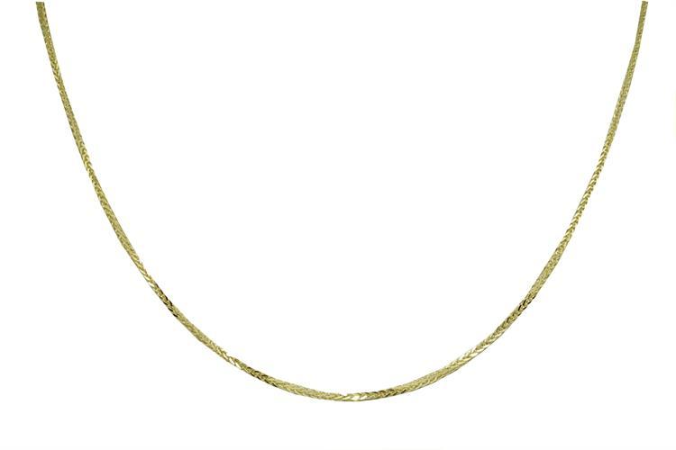 שרשרת זהב ללא תליון לגבר