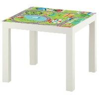 1 יח' טפט דביק מותאם לשולחן (LACK)- לוח משחק למכוניות