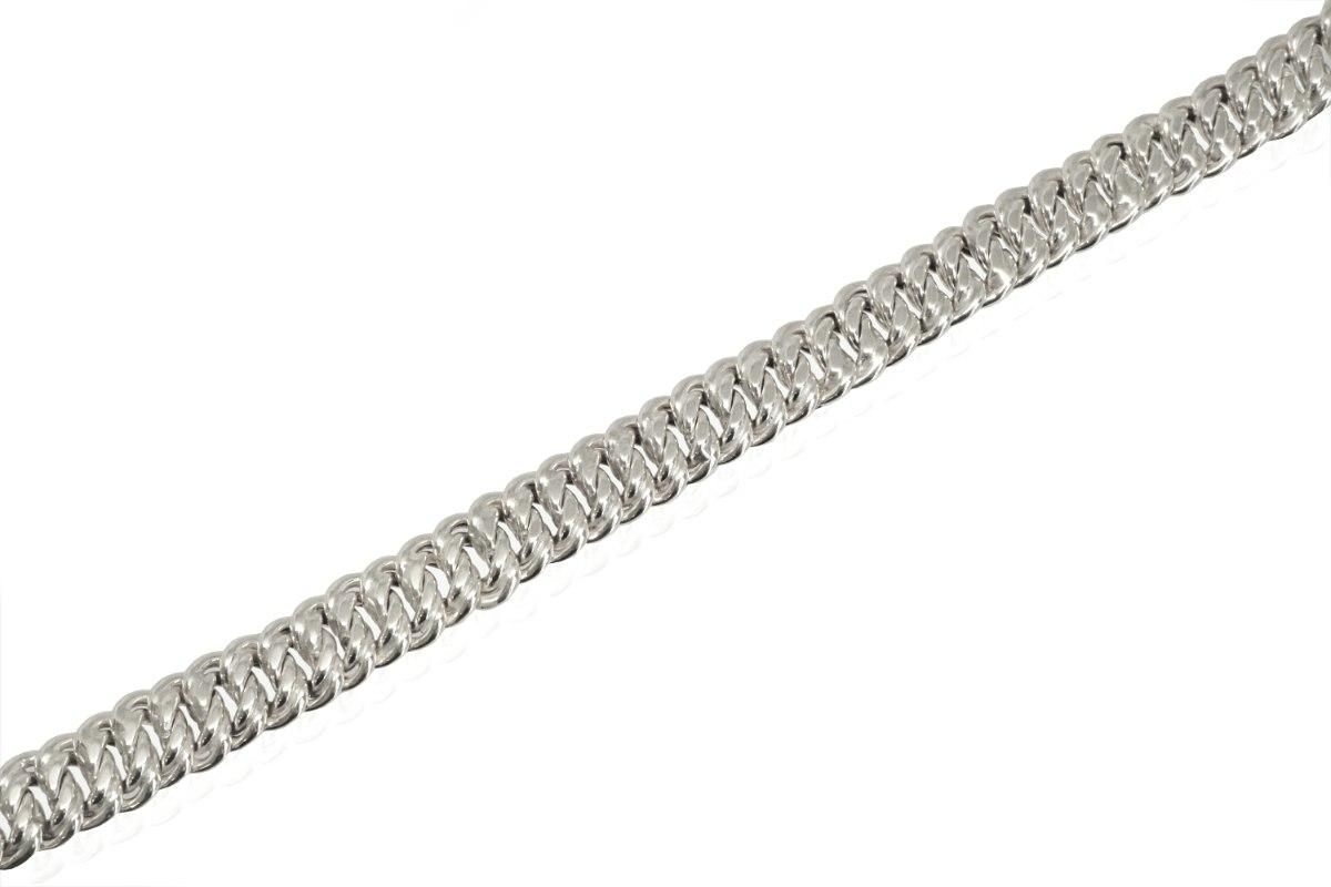 צמיד זהב לבן חוליות לאישה 1.0 סמ רוחב