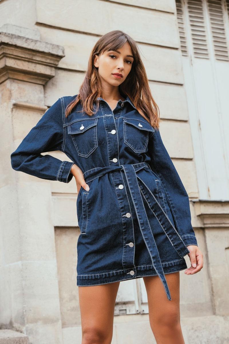 שמלת ג'ינס פריז