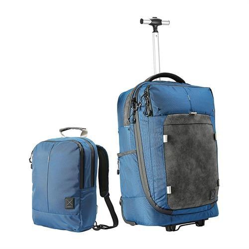 תיק גב/ טרולי היברידי עם תיק גב ניתק CABIN MAX X ONE BLUE 55x35x20