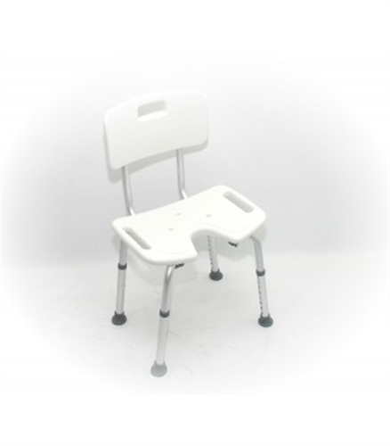 כסא מקלחת טלסקופי עם פתח U