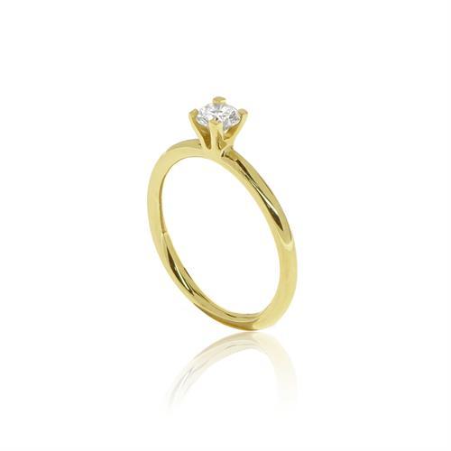 טבעת יהלום 0.20 קראט