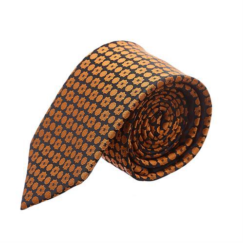 עניבה מדוגמת כוכבים עיגולים זהב