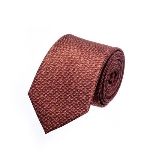 עניבה שתי וערב אדום זהב