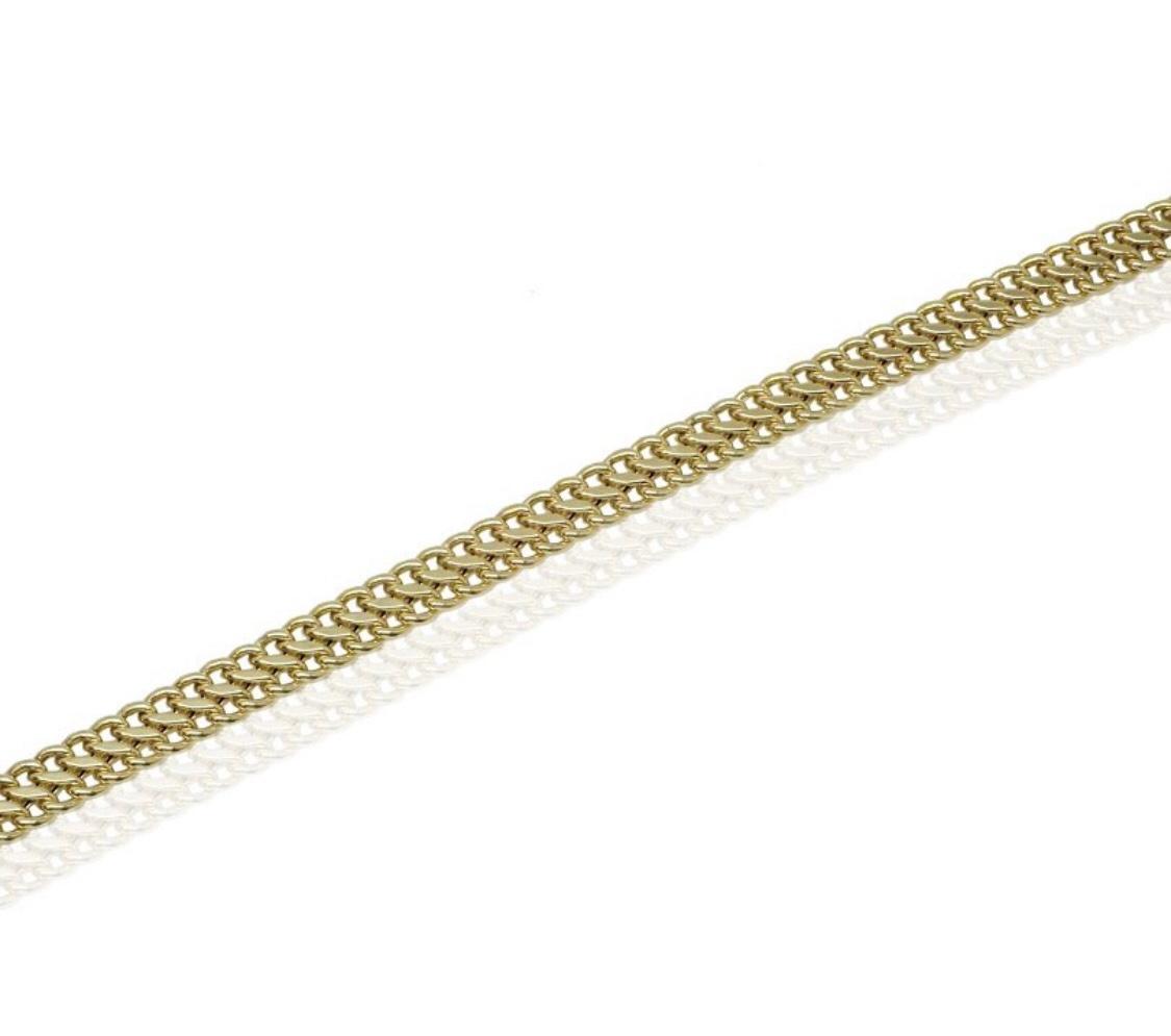 צמיד זהב חוליות עם נוכחות לאישה בסגנון S