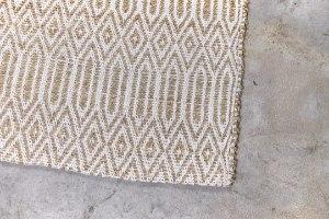 שטיח עשב ים  - בתוספת דוגמה בלבן