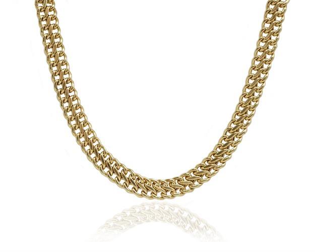 שרשרת חוליות זהב לאישה | שרשרת 14 קרט לאישה | קולייר חוליות לאישה
