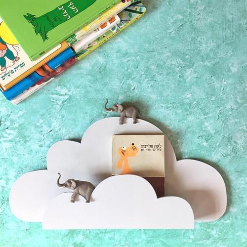 מדף ספר - ענן אפור