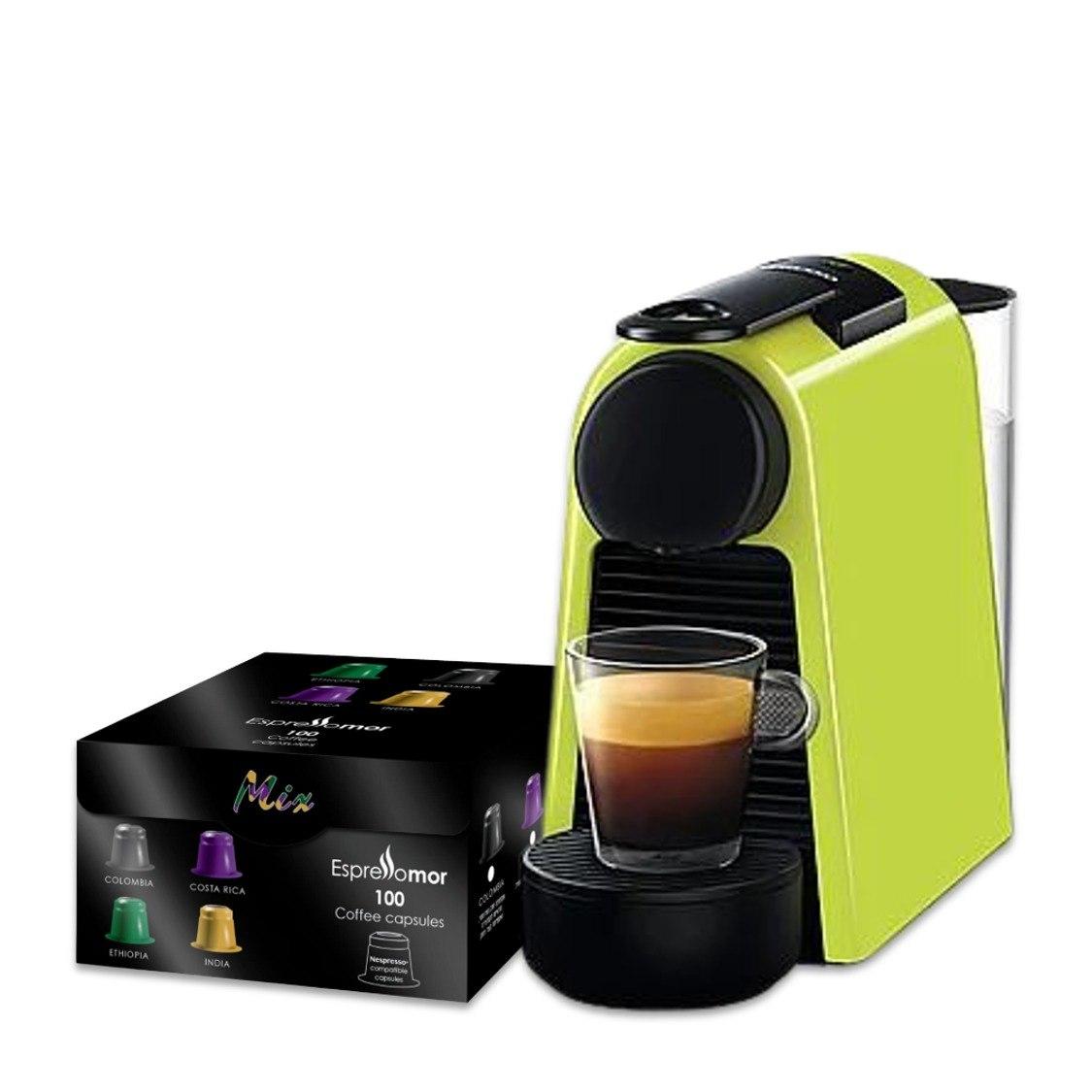 מכונת נספרסו Essenza Mini ו100 קפסולות קפה אספרסו מור מתנה