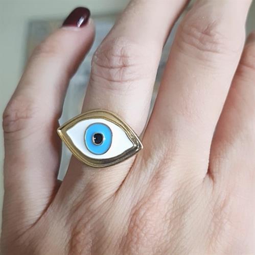 טבעת עין אליפסה כחולה