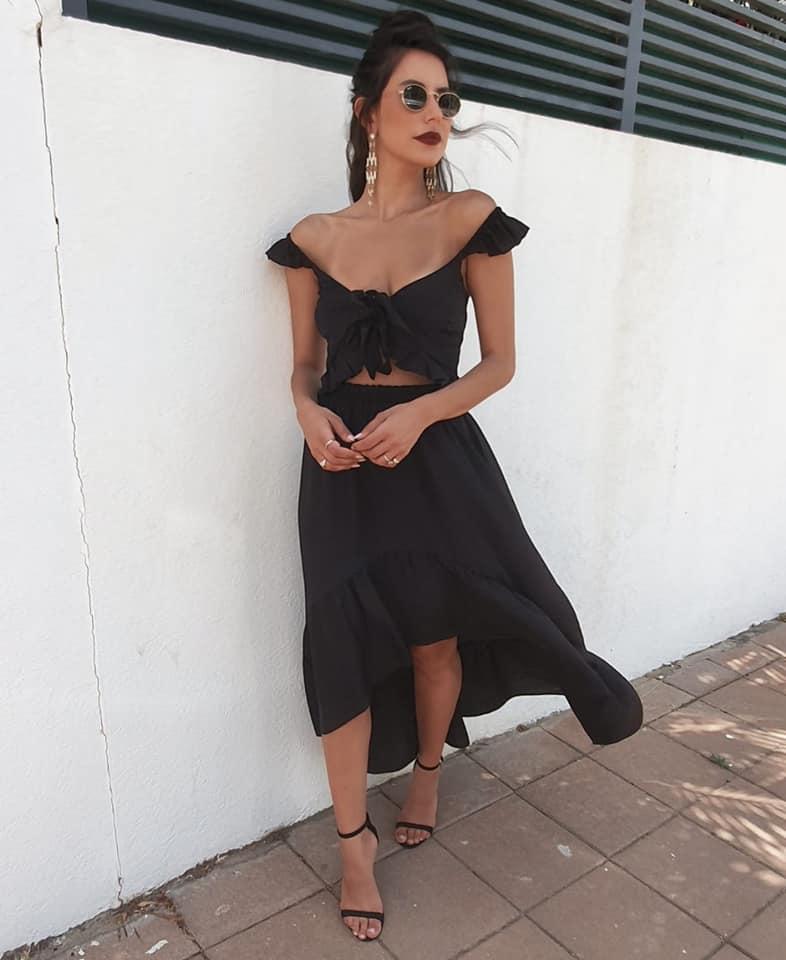 חליפת מרגרט - שחורה