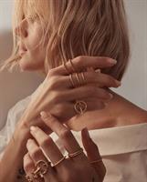 טבעת פלורי דקה זהב 14K