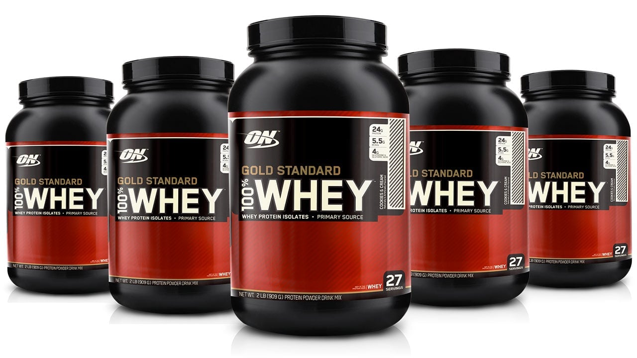 6 יח Optimum Nutrition Gold 100% Whey USA