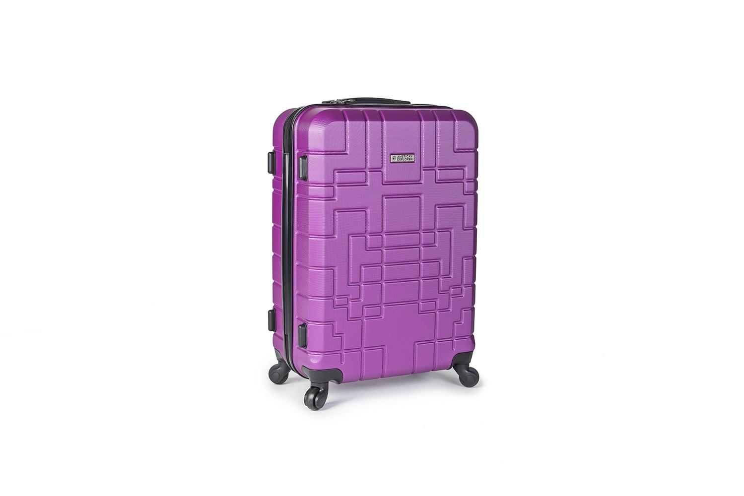 """מזוודה 24"""" בינונית AMERICAN EXPLORER- צבע סגול"""
