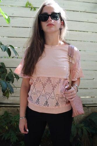 חולצת רונה ורודה