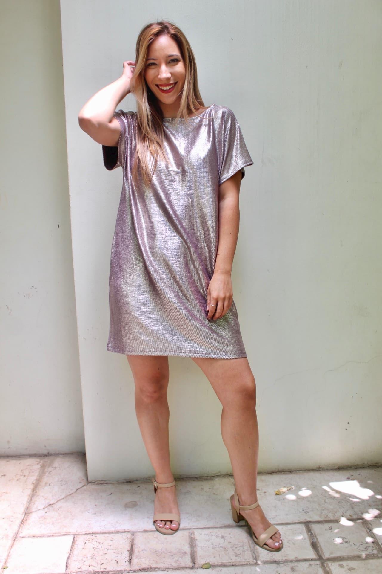 שמלת סלינה ורודה