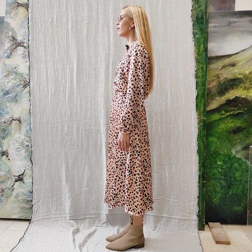 חצאית SLIM - מנומרת