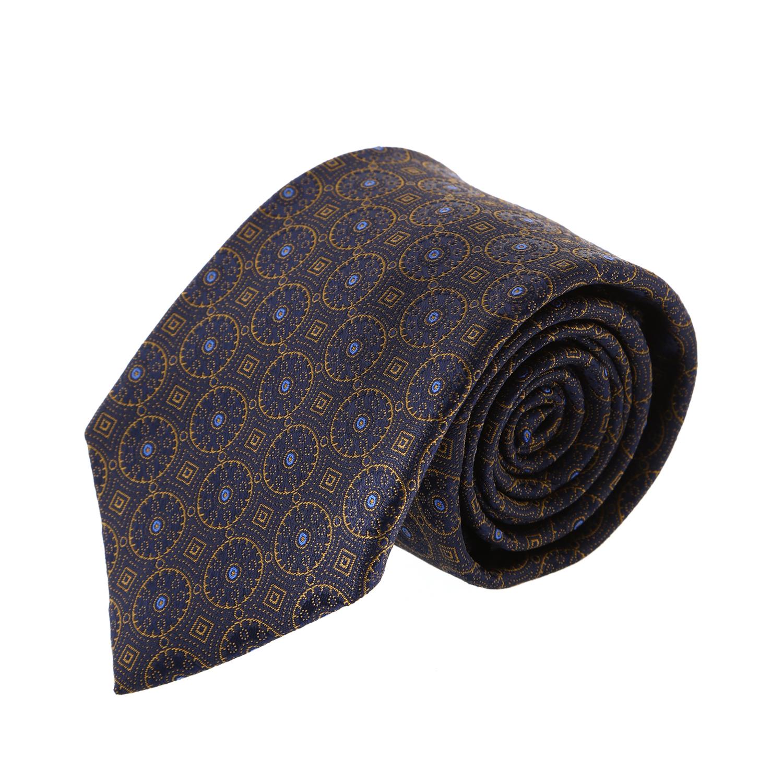 עניבה קלאסית עיגולים זהב