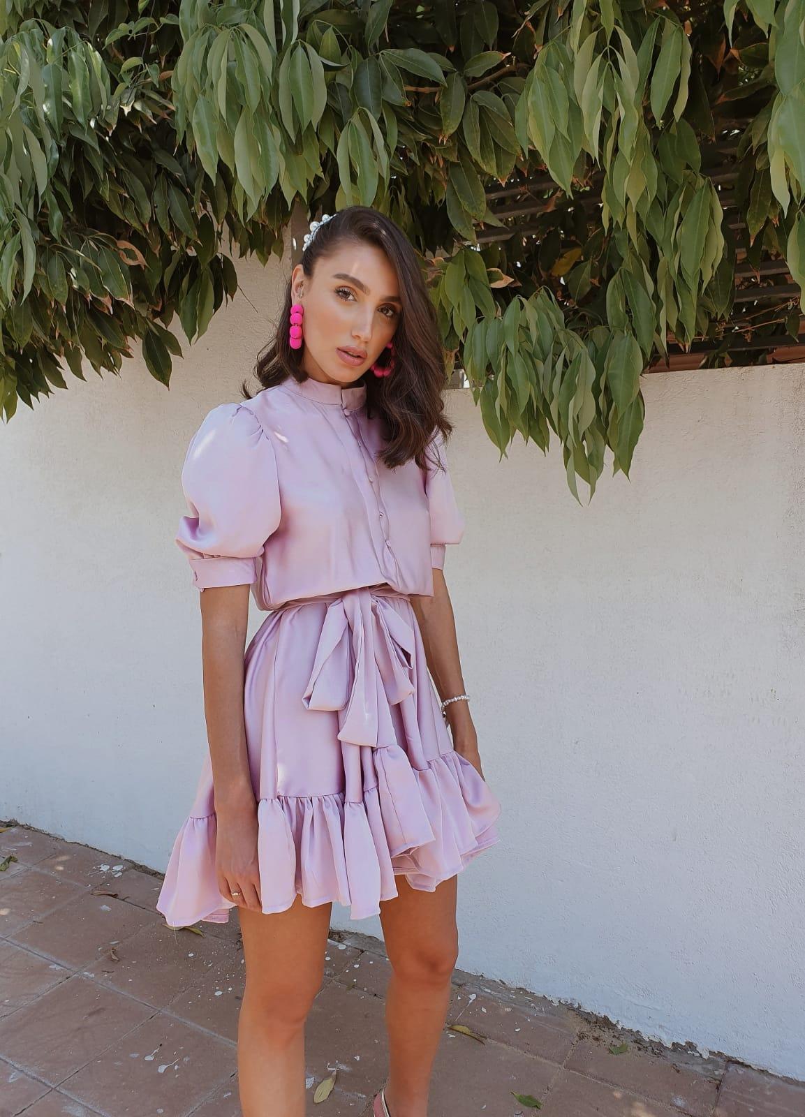 שמלת ורסאי - ורודה