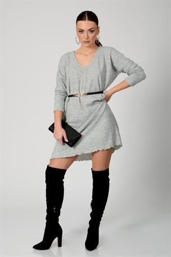 שמלת אוברסייז ליהי אפור מלאנז