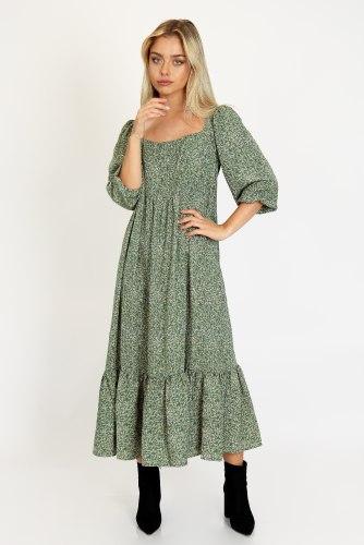 שמלת מידי פרחונית