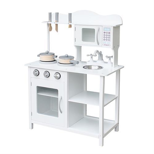 מטבח עץ לילדים לבן דגם יובל W10C404
