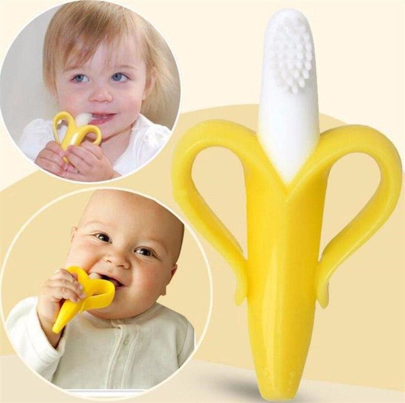 מברשת שיניים בננה מסיליקון לתינוק
