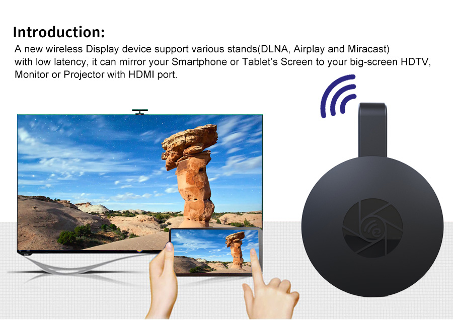 מכשיר שיקוף הסמארטפון לטלוויזיה באיכות HD