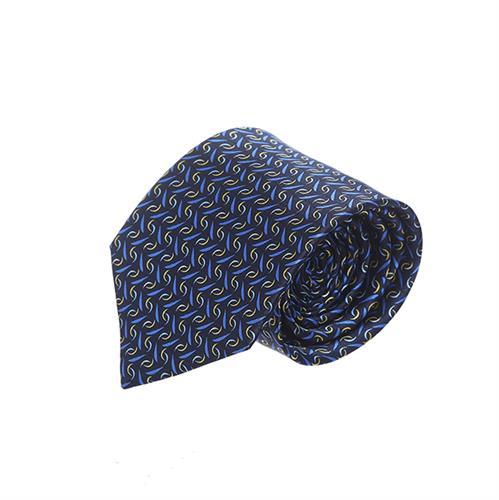 עניבה מודפס כחול