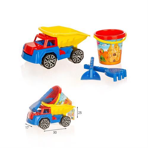 משאית עם כלי חול