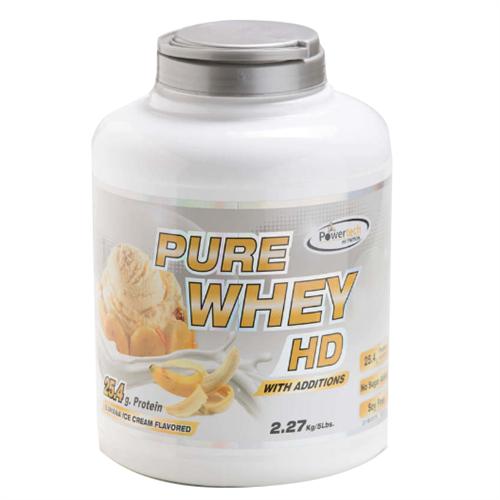 """-- אבקת חלבון פאוארטק HD בטעם בננה -- Pure Whey Hd, מכיל   2.3 ק""""ג"""